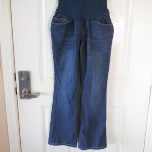 A Pea in the Pod Maternity Bootcut Jeans Blue